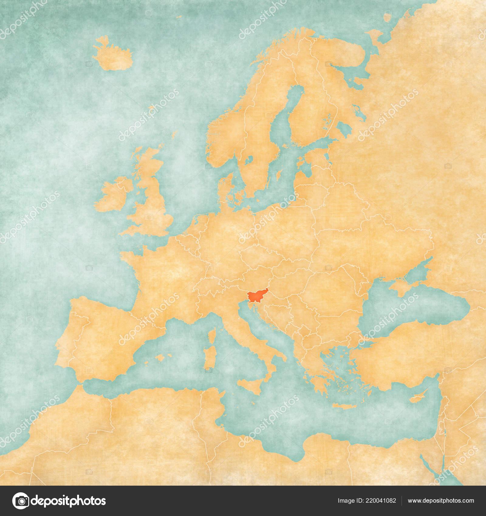 Beautiful Slovenia Map Europe Photos - Printable Map - New ...