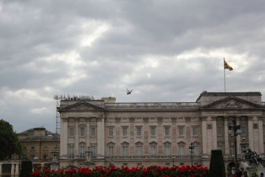Donald Trump, London, UK, Stock Photo, 3/6/2019 - Donald Trump helicopter landing at Buckingham Palace for UK visit day photograph image picture