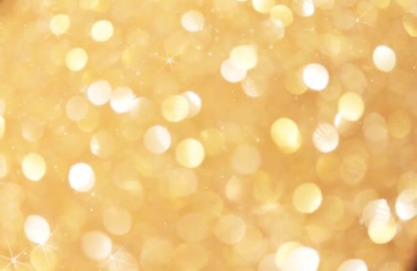 Zlatá Bokeh Světle zlatá jiskra Pozadí vánoční hvězda záře Smyčka stock, záběry, video