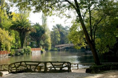 lake of Infante Don Pedro park in Aveiro, Portugal. Europe