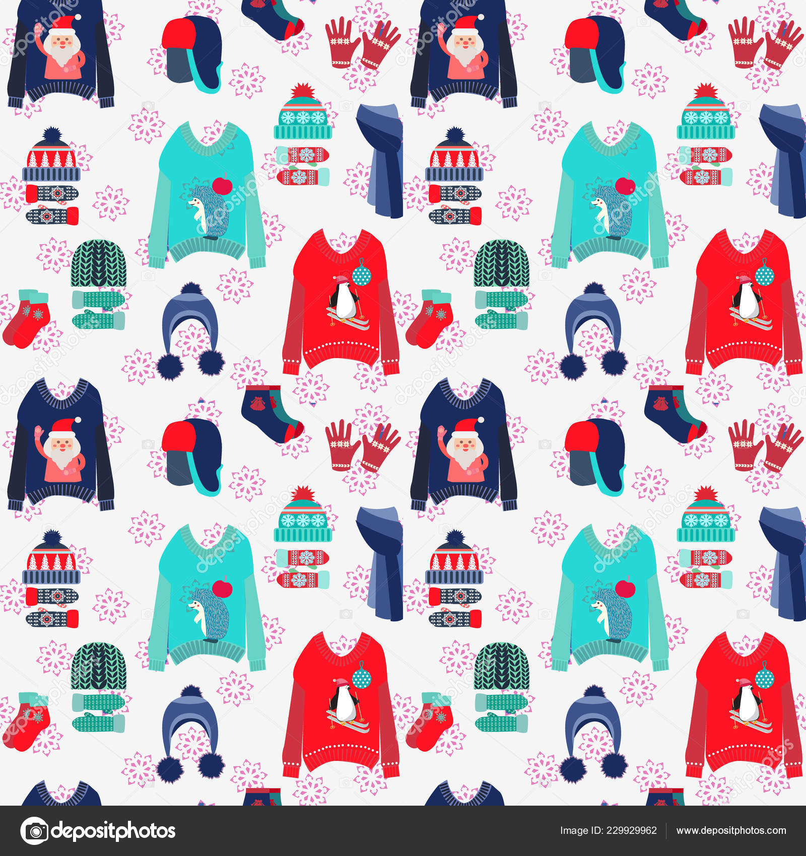 Merry Christmas Background Cute Ugly Sweaters Collection