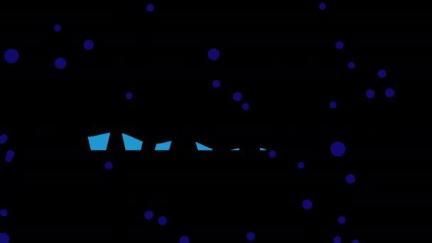 Animovaný text o tekuté vodě. Vodní citát kinetická typografie 4k animace.