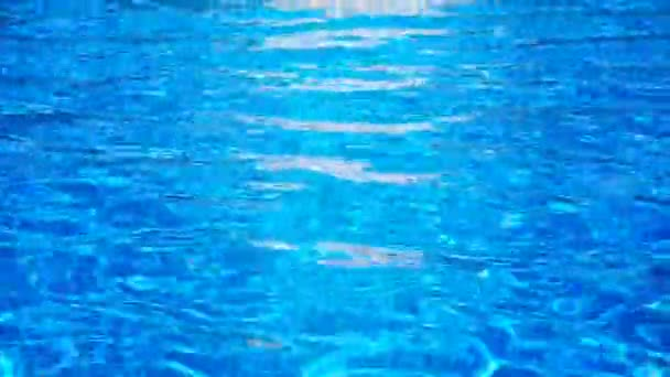 Blue surface water in the pool