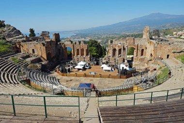 Amphitheater Teatro Antico, Taormina, Sicily, Italy