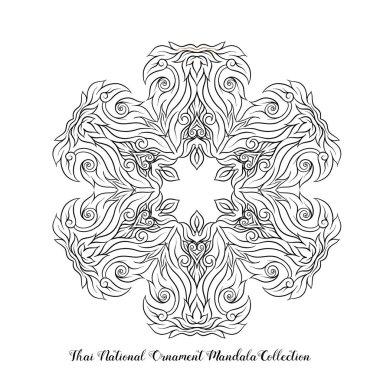 Outline mandala of traditional Thai ornament. Stock illustration
