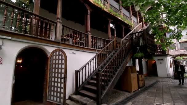 Bucharest, Romania - June 29, 2018: Manuc Inn (Hanul Manuc) opened in 1808 is one of the most important tourist attractions in Bucharest, Romania.