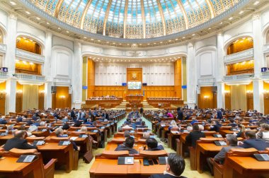 Romanian Parliament - common meeting - Senate and Chamber of Dep