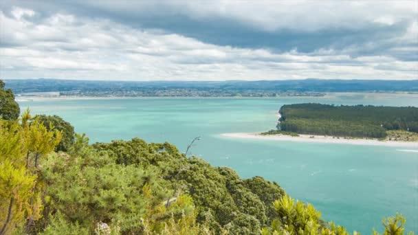 Mount Maunganui View Towards Greater Tauranga City in the Bay of Plenty Region of New Zealand