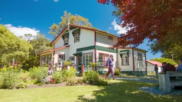 Szigetek-öböl Új-Zéland Williams House Közkönyvtár a Paihia a látogató turisták egy napsütéses nap