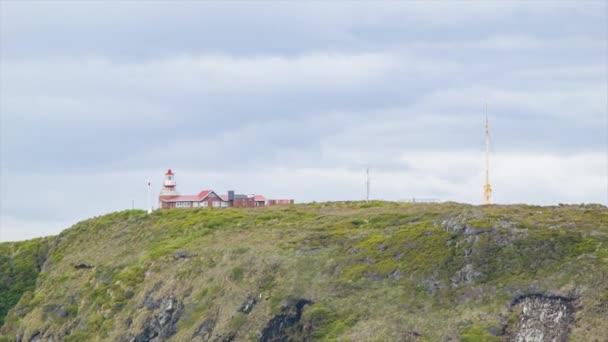 Cape Horn Leuchtturm Nahaufnahme auf dem Gipfel des Berges an der südlichsten Spitze Südamerikas