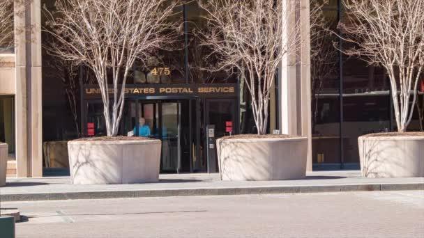 Vereinigte Staaten Post usps Büro des Verbraucherschützers in Washington dc usa Gebäude außen mit Menschen aus Haustüren
