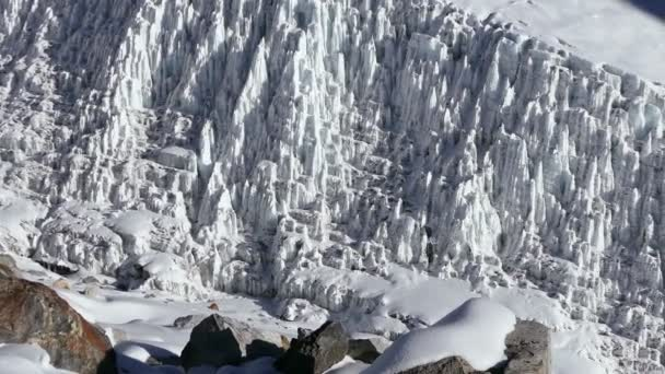 Panorama of the giant icefall Khumbu at the foot of Mount Everest (8848 m).