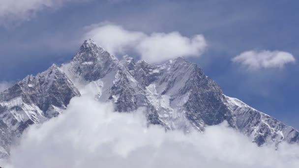 Spectacular view of Lhotse peak (8516 m) at sunrise. Nepal, Himalayas mountains.