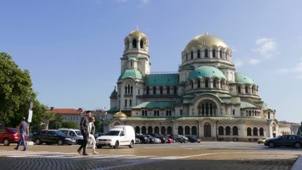 City view with Alexander Nevsky Cathedral in Sofia, Bulgaria on June, 2019.