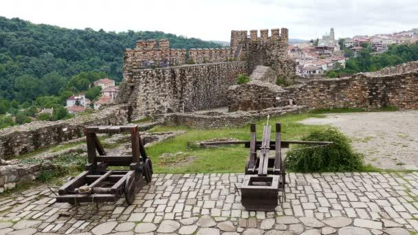 Tourists in the historical Tsarevets fortress in Veliko Tarnovo, Bulgaria on June, 2019.