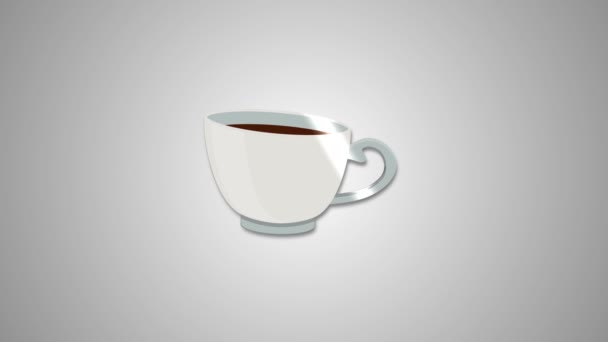 Cup Coffee Tea Flat Animated Icon. 4k Animated Food  Restaurant Icon to Improve Project and Explainer Video