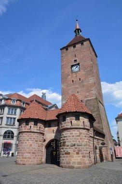 View in the city of Nuremberg, Bavaria, Germany