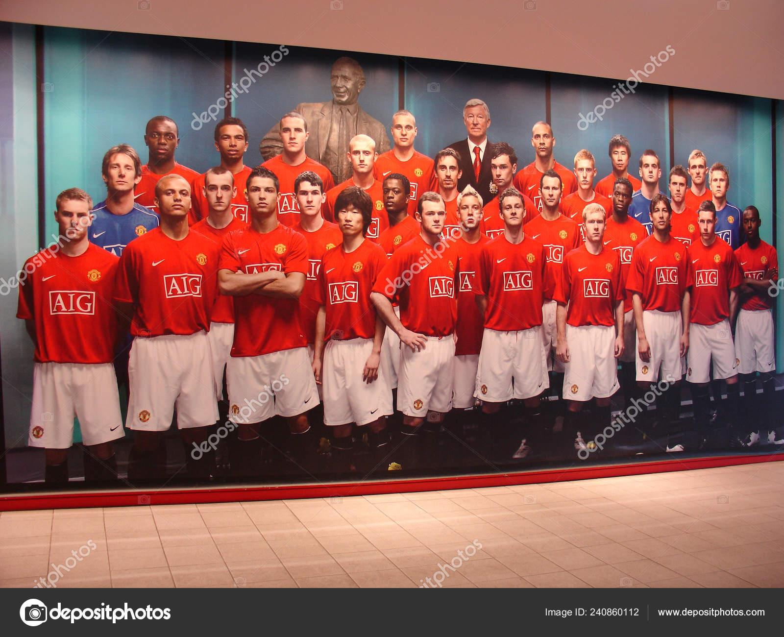 buy popular b3e16 05bc6 Manchester England September 2007 Image Football Team ...
