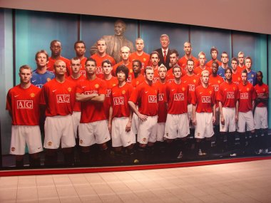 Manchester, England - September 19, 2007: Image of football team