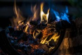 Fotografie Fire for a nice Asado in Argentina
