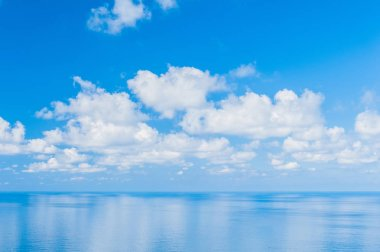 Pacific Ocean -  View of beautiful sky with clear blue sea
