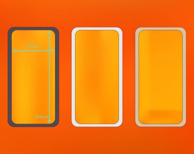 Mesh, orange red colored phone backgrounds kit.