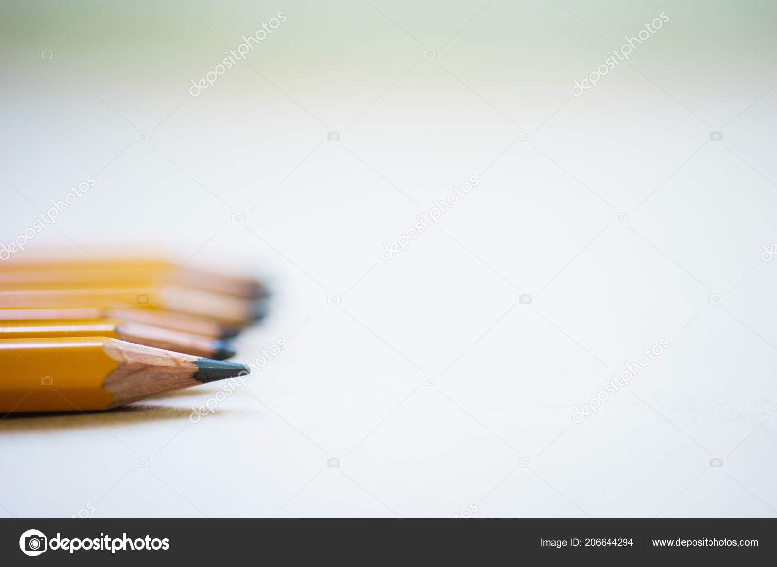 Pencils sketching paper copy space concept drawing school artist composition stock photo