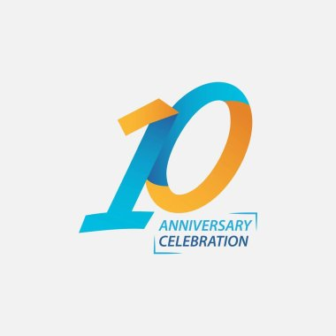 10 Year Anniversary Celebration Vector Template Design Illustration
