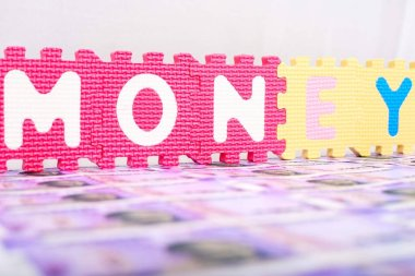 Picture of money. Isolated on the white background.