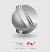 elegáns ezüst labdát, ikon