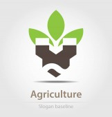 Originally created agriculture business icon