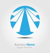 Eredetileg tervezett absztrakt céges logó
