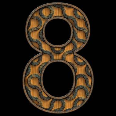 """Картина, постер, плакат, фотообои """"3d рендеринг древесины и металла """", артикул 268920614"""