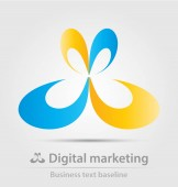 digitális marketing üzleti ikon