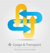 Teher- és szállítási üzleti ikon