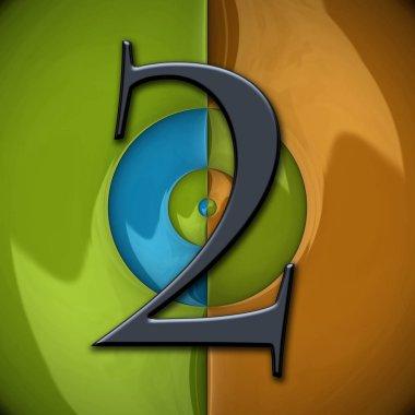 "Картина, постер, плакат, фотообои ""3D визуализация глянцевый числа"", артикул 270599268"