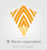 Ikone der Mülltrennung für kreatives Design