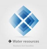 Víz erőforrás üzleti ikon