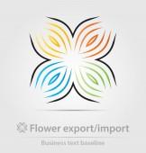 Blumen-Export, Import Business-Ikone