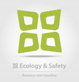 Ecology and safety business icon