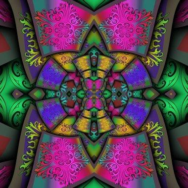 "Картина, постер, плакат, фотообои ""3D визуализация пластиковые украшение фон плитка"", артикул 273870438"