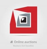 Obchodní ikona aukce online