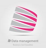 Ikona obchodní služby správy dat