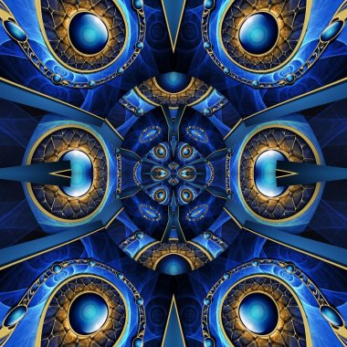 """Картина, постер, плакат, фотообои """"3d визуализировать золото и драгоценные камни фоновая плитка"""", артикул 273882108"""