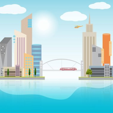 Urban landscape illustration