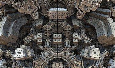 3D illustration artwork of virtual scenery