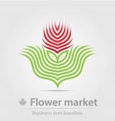Květinový trh obchodní ikona