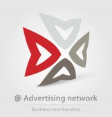 Advertising network business icon