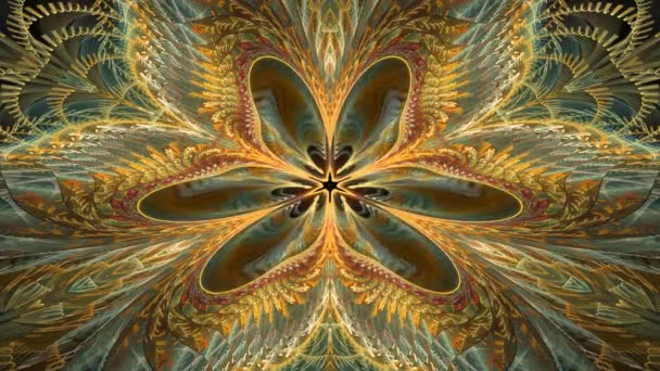 Movements inside the abstract flower.Fractal colorful motion footage.
