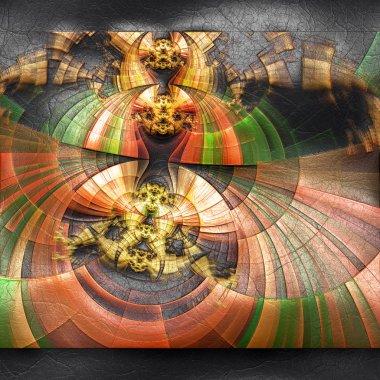 """Картина, постер, плакат, фотообои """"3D визуализация пластиковых фрактала на коже"""", артикул 306638684"""